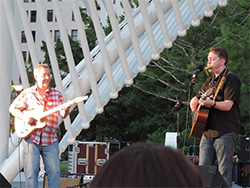with John Fullbright at OKC Myriad Gardens - photo by Dennis Whiteman